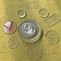 钢化玻璃 厂家加工玻璃圆片 玻璃方片 触控开关面板盖板