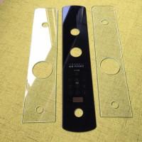 源头厂家钢化玻璃加工 指纹锁智能开关玻璃面板 丝印精雕打孔