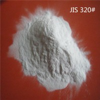 不锈钢喷砂用白刚玉微粉320#粒径均匀质量稳定