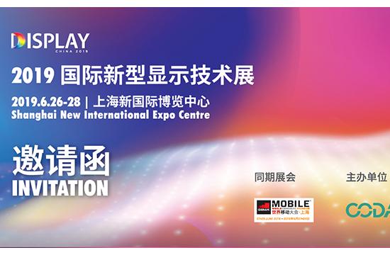 DISPLAY CHINA 2019今夏登陆上海,助力显示产业再度跨越