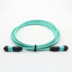 MPO-MPO光纤跳线多模万兆跳线带状12芯米光纤跳线