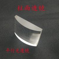 柱面镜厂家打样 平凸激光短焦柱面镜 平面钢化蓝宝石玻璃透镜