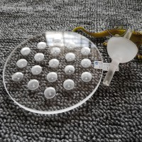 石英玻璃异形圆环|石英圆形打孔玻璃|石英玻璃椭圆片|